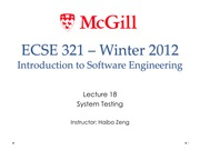 Lecture18 System Testing