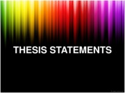 Thesis Statements PPT, p. 69