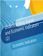 Understanding Social and Economic Indicators 2