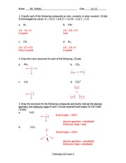 Exam 3 Solution Summer 2013 on General Chemistry