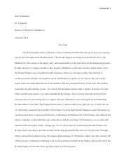 History of Western Civilization Essay 5 with Works Cited.docx