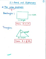 MAT 3143 The Area Problem Notes