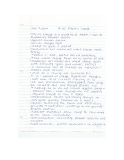 Physics - Electric Charge Lecture Notes