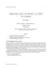 BIS 2A, Textbook 11.1 DNA Synthesis