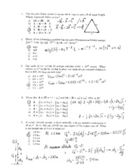 Physics Fall 2006 Common Hour Exam 1 Solutions