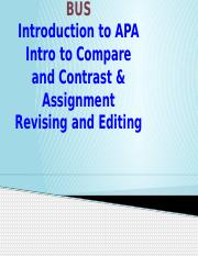 5-CESL 1003 Intro to APA, Compare and Contrast