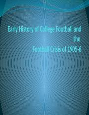 Early History of College Football and the