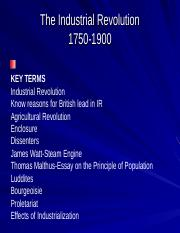 Lecture The Industrial Revolution 6_1_11.ppt