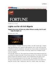 Nigeria Article