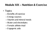 Chapter 19 - Nutrition & Exercise - WEB