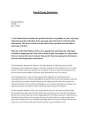 Cyber spying essay