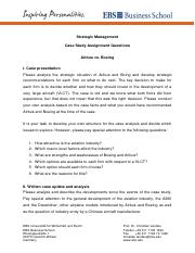 Case assignment questions MSC FT 2016 update