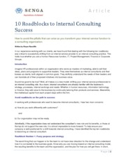 notes on internal consulting