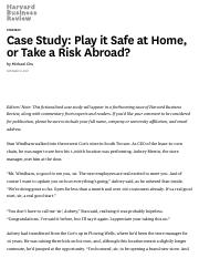 Case Study_ Play it Safe at Home, or Take a Risk Abroad_.pdf