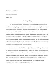Christmas Essay In English Do The Right Thing Essay  Professor Adam Lindberg Literature Of Public  Life  May  Do The Right Thing The Right Thing Was Not Done Bold  Statement Compare And Contrast Essay Examples High School also How To Write A High School Essay Do The Right Thing Essay  Professor Adam Lindberg Literature Of  Essay English Spm