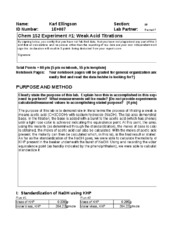 chem 101 lab report 2 Sample lab report #2 in the writing guidelines for engineering and science  students: guidelines to help students of science and engineering make their.