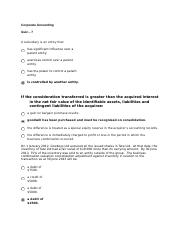 CORPORATE ACCOUNTING- quiz 7