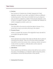 legal writing chapter 3 notes