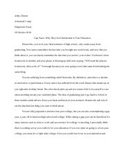 Revised Diagnostice Essay