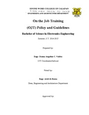 On the Job Training policy