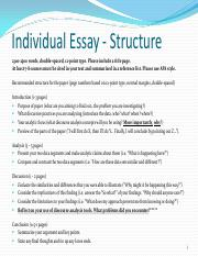 individual essay hawaii View homework help - eng 130 week 5 individual assignment persuasive essaydocx from english 130 at devry chicago running head: persuasive essay 1 we write high-quality sample essays, term papers.
