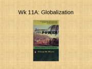 11A Globalization and the Rise of commodity Production