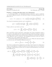 Physics 2.71 Pset 6 Solutions