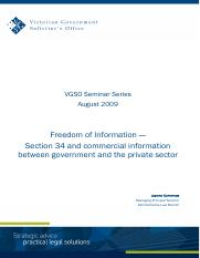 seminar-paper-aug-2009 Section 34 and commercial information between government and the private sect
