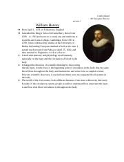 William Harvey - Scientific Revolution .docx