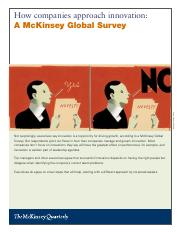 I - 05 - McKinsey Quartertly - How Companies Approach Innovation(1).pdf