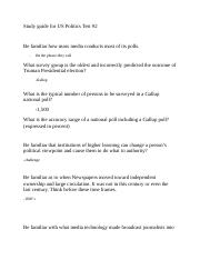 Study guide for US Politics #2 Test.docx