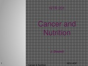 10A. Nutrition and Cancer