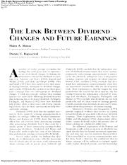 The Link Between Dividend Changes and Future Earnings.pdf