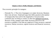 chapter 1 profits, managers and markets