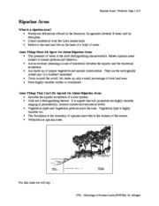 Lecture 14 Riparian Areas - LWD - Wetlands