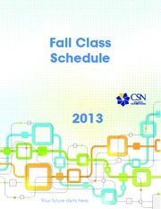 CSN_Fall13_Schedule