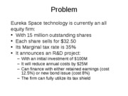 Eureka Space Technologies Problem