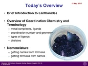 Lecture 23- Coordination Chemistry