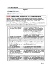 Crt 205 critical analysis form essay