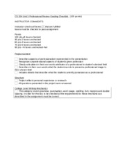 CS 204 Unit 3 Assignment Grading Checklist