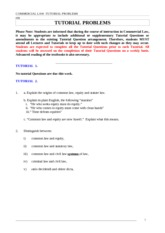 RMIT (MArshall's) Comm Law Tute QuestionsVersion2