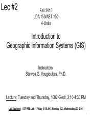 LECTURE 02 GEODETIC AND MAP COORDINATES 2015