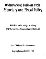 SP ECO 4 SP Business Cycle - Monetary and Fiscal Policy 2014.ppt