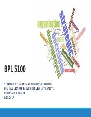 BPL Fall Lecture 8 Business Level Strategy 092817a.pptx