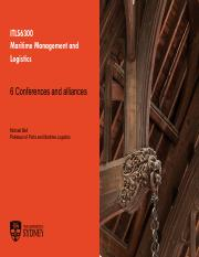 Lecture 6 Conferences and alliances(3)