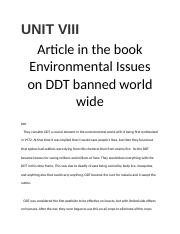 UNIT VIII Article Critique.docx