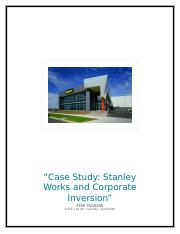 Stanley Works and Corporate Inversion.docx