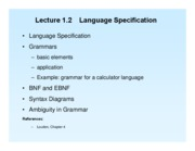 Lect 1.2 Lang Specification