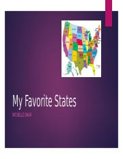 My Favorite States Project 2 MD
