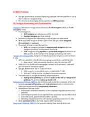 MICB 202 Immunology Notes